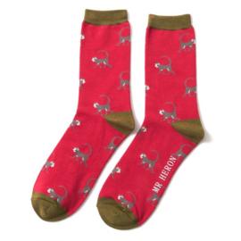 Mr Heron Monkeys Red (One Size)