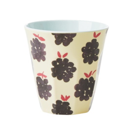 Rice Melamine Beker Blackberry print