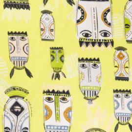 Tribal Masks Lime 290