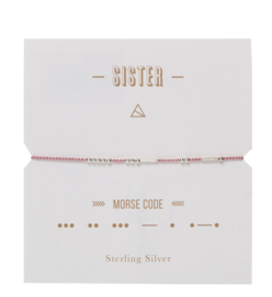 Timi Morse code armbandje:  Sister
