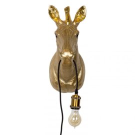 Zebra lamp goud