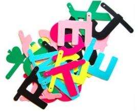DIY wordbanner kleur