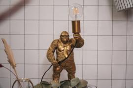 Gorilla lamp goud