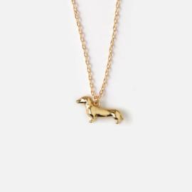 Orelia gouden ketting  teckel