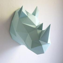 Papieren  Neushoorn DIY mint