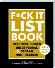 Fuck it list boek