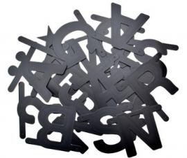 DIY wordbanner zwart