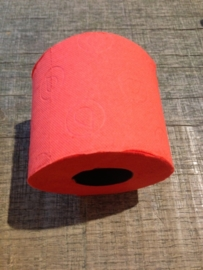 Gekleurd wc-papier rood