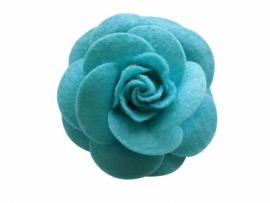 Vilten roos aqua