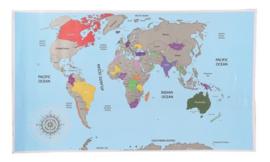 Scratch map / kras wereldkaart