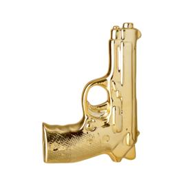 Gunshaped vaas goud