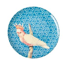 Rice Melamine plate bird blue