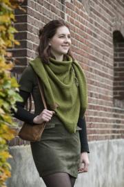 Knit Coco omslagdoek Mosgroen