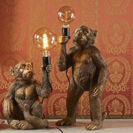 Aap lamp zittend goud