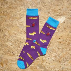 NO MORE BORING SOCKS - Tosti purple
