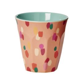 Rice Melamine beker confetti roze