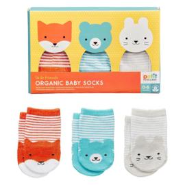 Petit Collage Organic Baby Socks 0-6 mnd