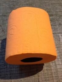 Gekleurd wc-papier oranje