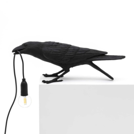 Seletti Bird Lamp playing zwart