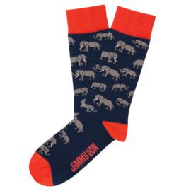 Jimmy Lion - Elephants - Dark Blue
