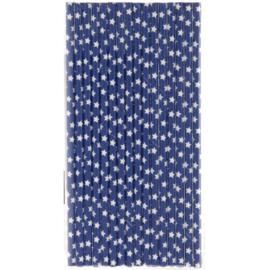 Papieren rietjes blauw ster