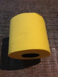 Gekleurd wc-papier geel