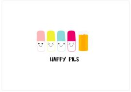 Happy Pils ansichtkaart (per 10 stuks)