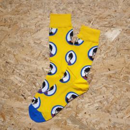 NO MORE BORING SOCKS - The beatles yellow