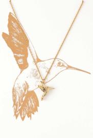 Orelia gouden kolibrie ketting
