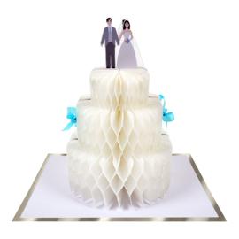 Kaart bruiloft met honeycomb