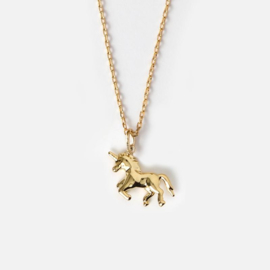 "Orelia gouden ketting met unicorn ""Have a Magical Day"""