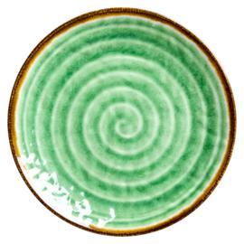 Melamine bord swirl green