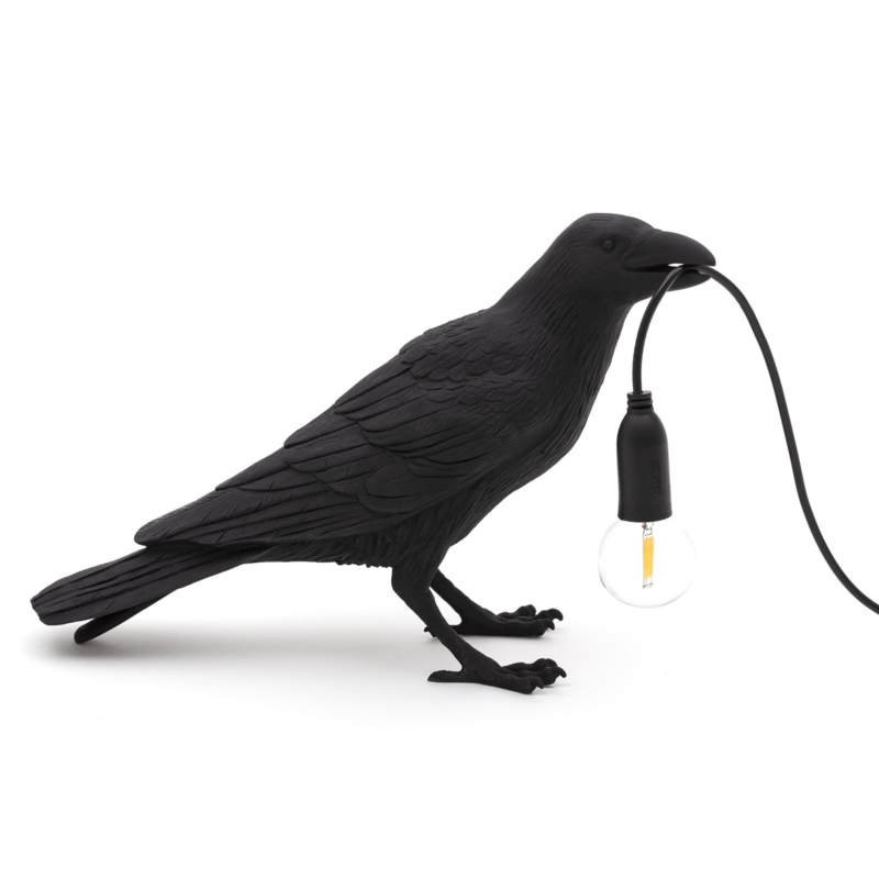 Seletti Bird Lamp waiting zwart