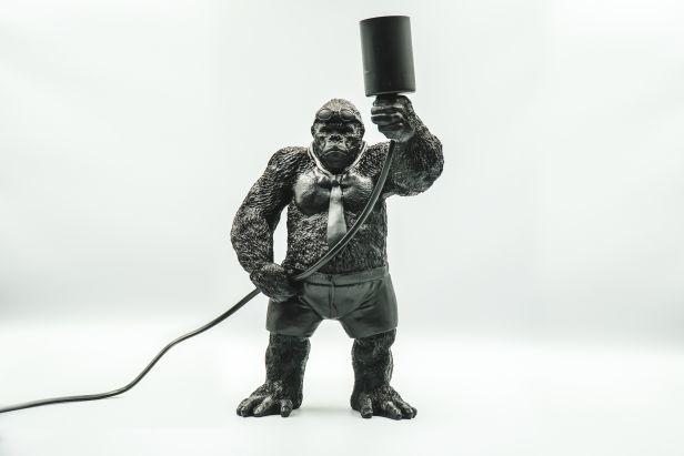 Gorilla lamp zwart