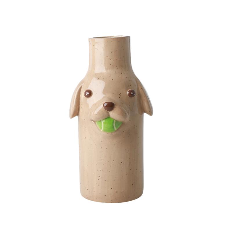 Rice Ceramic Vaas Hond