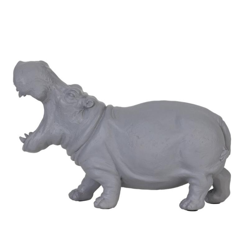 Nijlpaard Tafellamp Grijs
