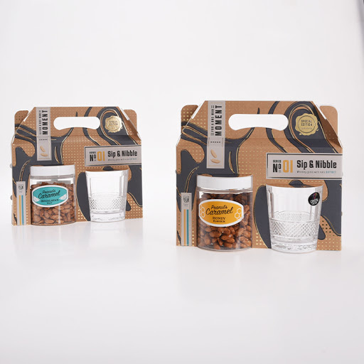 Whisky Kit with Caramelized Salted Peanuts Himalayan Salt