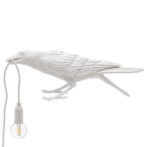 Seletti Bird Lamp playing white