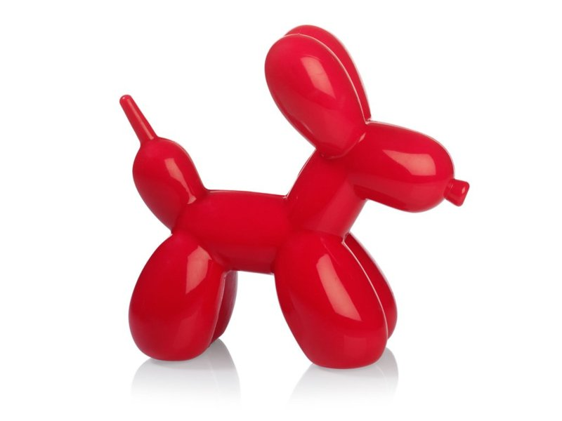 Balloon hond nachtlampje rood