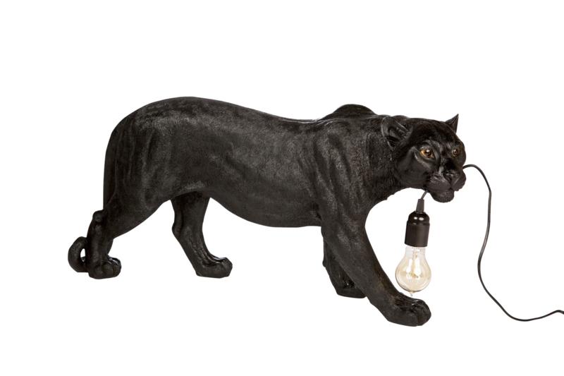 Luipaard lamp zwart XL