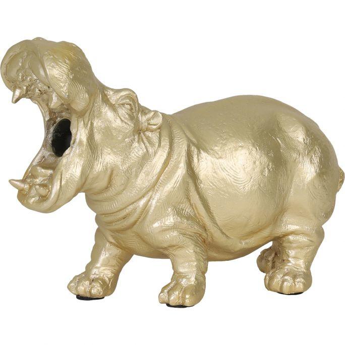 Nijlpaard Tafellamp Goud