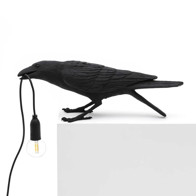 Seletti Bird Lamp playing zwart