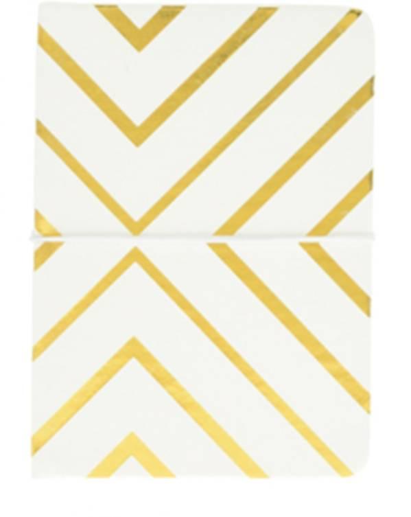 Notitieboekje wit met gouden strepen