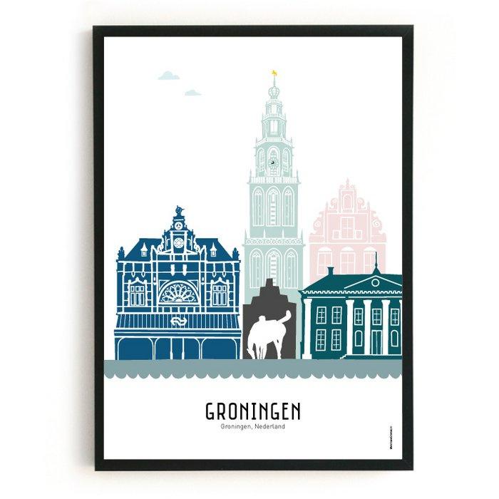 Poster Groningen  kleur (a4)