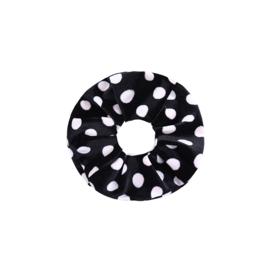 Scrunchie Velvet Dots zwart