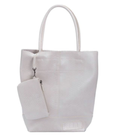 Zebra Trends Natural kartel bag - Off white