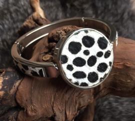 Zebra armband zilver