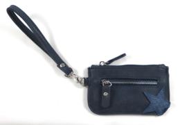 Klein donkerblauw  ster portemonnee