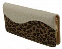 Witte luipaard portemonnee