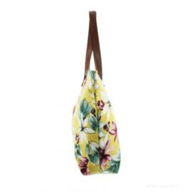Strandtas/Shopper Tropical - Geel